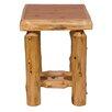 Fireside Lodge Open Cedar Log Nightstand in Vintage Cedar