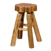 "<strong>Fireside Lodge</strong> Traditional Cedar Log 24"" Bar Stool"