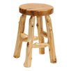 <strong>Fireside Lodge</strong> Traditional Cedar Log Accent Stool