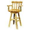 "Fireside Lodge Traditional Cedar Log 24"" Bar Stool"