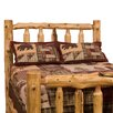 <strong>Fireside Lodge</strong> Traditional Cedar Log Slat Headboard