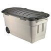 <strong>Rubbermaid</strong> Roughneck Wheeled Storage Box Dark Indigo Metallic
