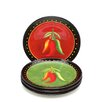 "<strong>Certified International</strong> Caliente by Joy Hall 8.75"" Salad Plate (Set of 4)"
