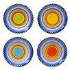 "Certified International Tequila Sunrise 6"" Canape Plate (Set of 4)"