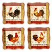"<strong>Certified International</strong> Tuscan Rooster 10.25"" Dinner Plates (Set of 4)"