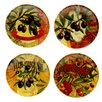 "<strong>Certified International</strong> Olio Di Oliva 6"" Canape Plates (Set of 4)"