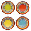 "Certified International Tequila Sunrise 9"" Salad Plate (Set of 4)"