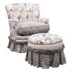 <strong>Angel Song</strong> Toile Black Adult Princess Glider Rocker
