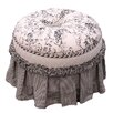 <strong>Angel Song</strong> Toile Black Adult Princess Ottoman