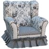 <strong>Angel Song</strong> Toile Black Child Wingback Chair