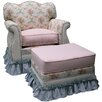 <strong>Angel Song</strong> Blossoms and Bows Adult Empire Glider Rocker and Ottoman