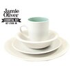 Jamie Oliver Essential 16 Piece Porcelain Dinnerware Set in Matte White