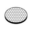 Kichler 45 Degree Black Hexcell Louver Sheild Accent Lens