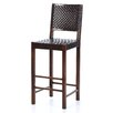 "Saddler 30"" Woven Leather Bar Stool in Walnut Stain"