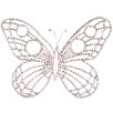 Jubilee Collection Medium Wire Beaded Butterfly Wall Décor (Set of 2)