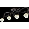 Quorum Lariat 4 Light Semi Flush Mount