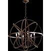 Quorum Celeste 6 Light Candle Chandelier