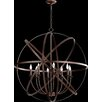 Quorum Celeste 8 Light Candle Chandelier