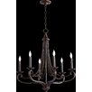 Quorum Lariat 6 Light Candle Chandelier