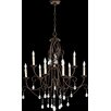 Quorum Cilia 9 Light Candle Chandelier