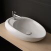 Moai Vessel Bathroom Sink with Single Faucet Hole
