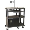 <strong>Tuffy 70 Series Extra Wide Presentation Station with Monitor Mount</strong> by H. Wilson Company