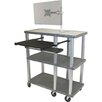 <strong>Tuffy 70 Series Open Shelf Presentation Station with Monitor Mount</strong> by H. Wilson Company
