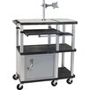 Tuffy Large Work Surface Presentation Station with Monitor Mount