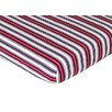 Nautical Nights Crib Sheet in Stripe Print