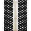 Sweet Jojo Designs Hot Dot Cotton Rod Pocket Curtain Panel (Set of 2)