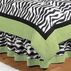 Zebra Lime Queen Bed Skirt