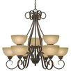 <strong>Riverton 9 Light Chandelier</strong> by Golden Lighting
