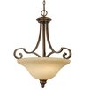 <strong>Golden Lighting</strong> Rockefeller 3 Light Bowl Inverted Pendant