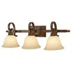 <strong>Golden Lighting</strong> Rockefeller 3 Light Bath Vanity Light