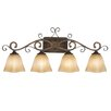 <strong>Golden Lighting</strong> Meridian 4 Light Bath Vanity Light