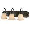 <strong>Golden Lighting</strong> Brookfield 3 Light Bath Vanity Light