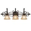 <strong>Golden Lighting</strong> Jefferson 3 Light Bath Vanity Light