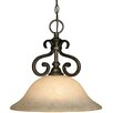 <strong>Heartwood 1 Light Nook Inverted Pendant</strong> by Golden Lighting
