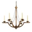 Golden Lighting Athena 6 Light Candle Chandelier