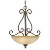Riverton 3 Light Bowl Inverted Pendant