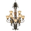 <strong>Meridian 12 Light Chandelier</strong> by Golden Lighting