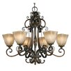 <strong>Golden Lighting</strong> Meridian 6 Light Chandelier