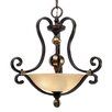 <strong>Portland 3 Light Bowl Inverted Pendant</strong> by Golden Lighting