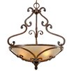 <strong>Golden Lighting</strong> Loretto 3 Light Bowl Inverted Pendant