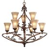 <strong>Golden Lighting</strong> Loretto 9 Light Chandelier