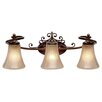 <strong>Golden Lighting</strong> Loretto 3 Light Bath Vanity Light