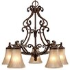 <strong>Loretto 5 Light Nook Chandelier</strong> by Golden Lighting