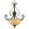 <strong>Golden Lighting</strong> Mayfair 3 Light Bowl Inverted Pendant