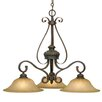 <strong>Golden Lighting</strong> Mayfair 3 Light Nook Chandelier