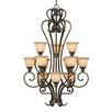 <strong>Golden Lighting</strong> Heartwood 12 Light Chandelier